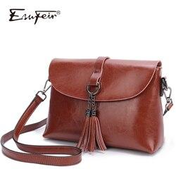 Nueva llegada de cuero genuino de las mujeres bolso de mensajero bolsa Simple diseño mujer bolsa de hombro bolso de la mujer