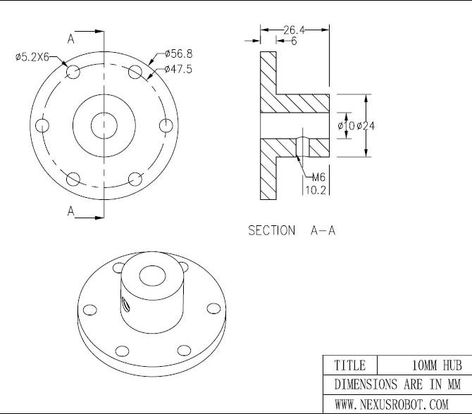 10 мм связи (Универсальный концентраторами) 18009 mecanum колесо Omni колеса муфты