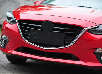 Voor Mazda 3 Sport Axela 2014-2016 15 Front Upper Grille Bumper Top Dak Grill Grille Replce 1 stks