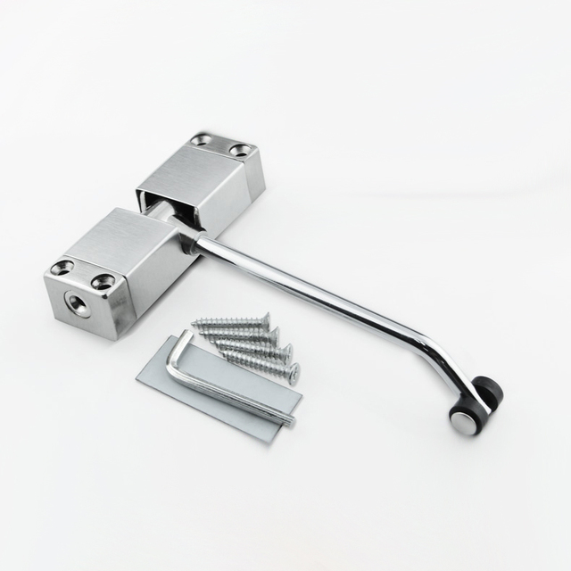 1pc Simple Household Door Closers Automatic Mounted Spring Door Closer Stainless Steel Adjustable Surface Door & 1pc Simple Household Door Closers Automatic Mounted Spring Door ...