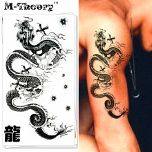 M-theory Chinese Dragon Body Makeup Temporary 3d Tattoos Sticker Henna Tatuagem Flash Tatoos Body Arts Tatto Tatouage Sticker