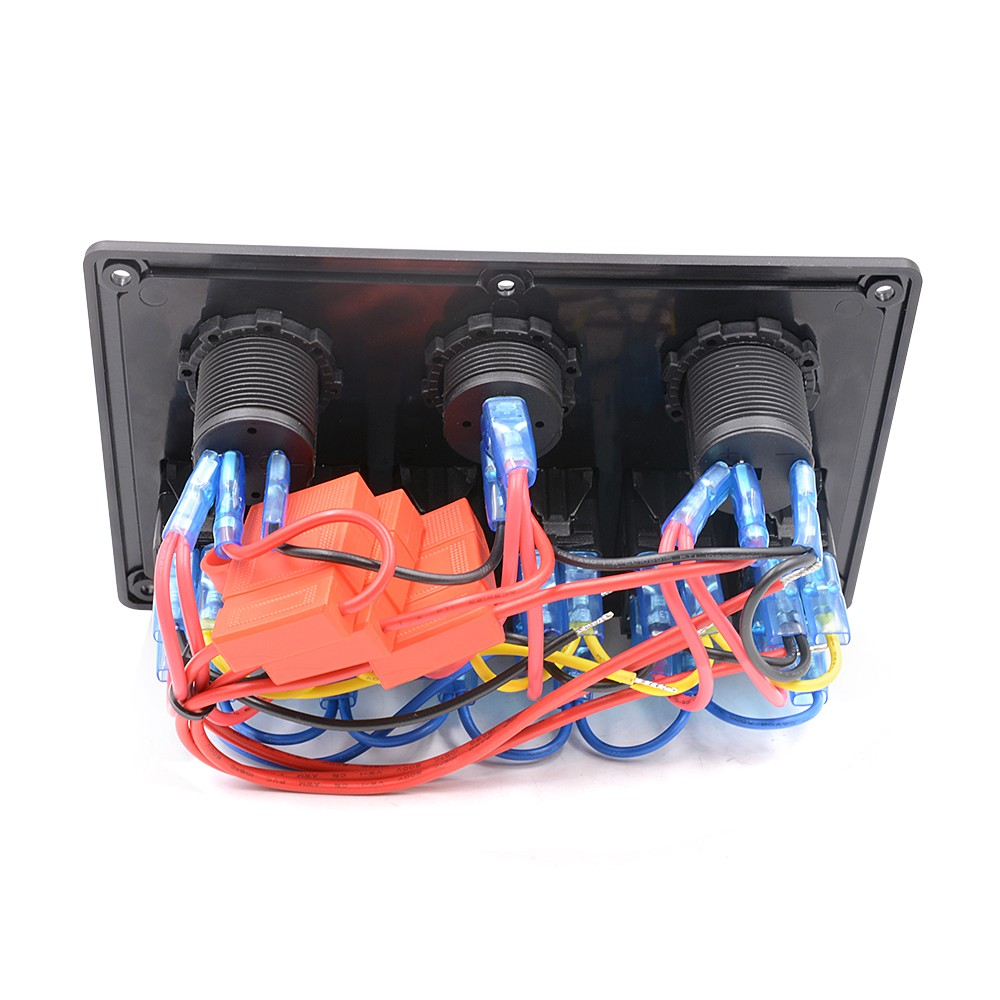 Waterproof Auto Atv Marine Boat 6 Gang Circuit Rocker Panel Switch Wiring Blue Led In Car Switches Relays From Automobiles Motorcycles On