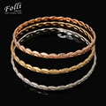 New Fashion 3Pieces Love Bangles Set For Women New H Bracelet Gold Silver Rose luxury India Jewelry Ladies Christmas Gift 68MM