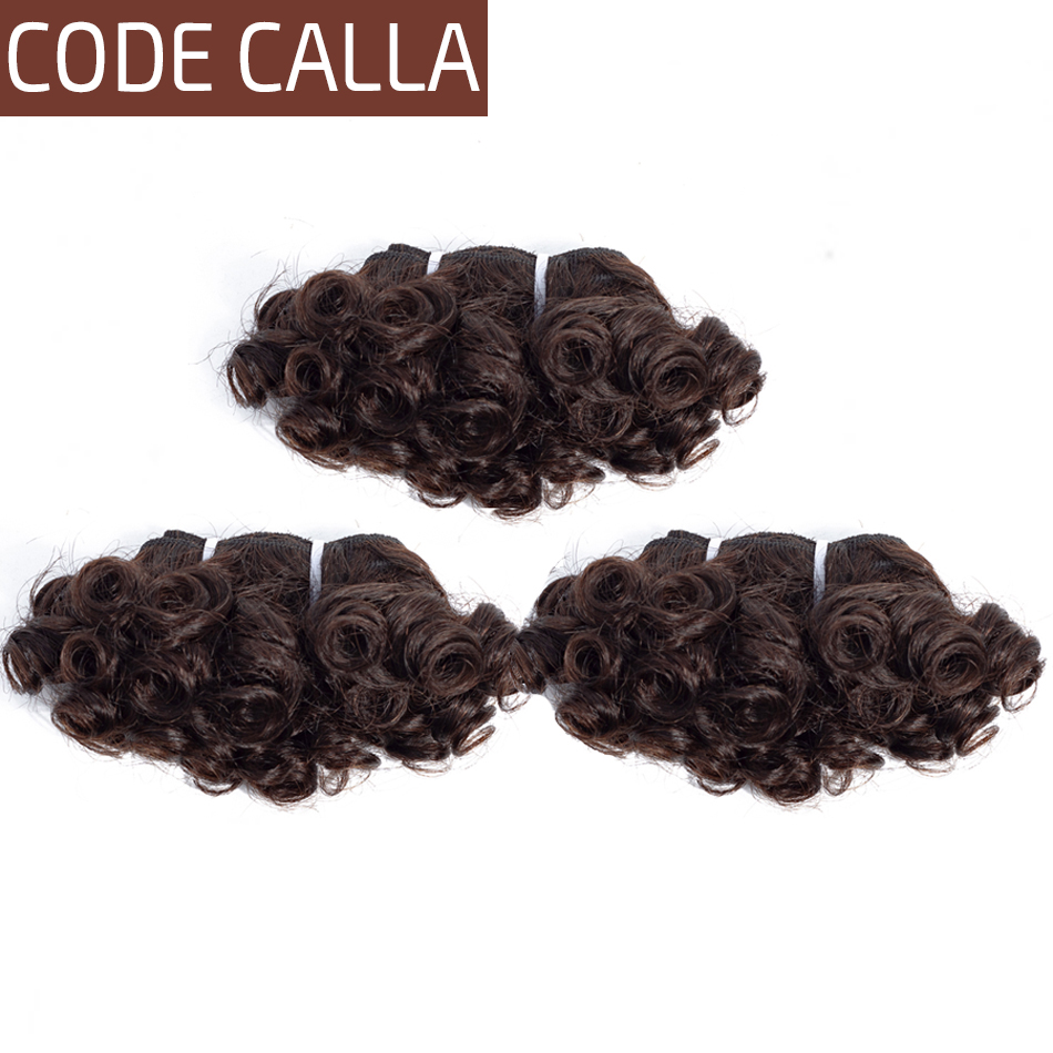Code Calla Pre Colored Raw Virgin Italian Human Hair Double Drawn Bouncy Curly 6 Bundles Weave