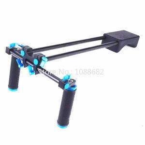 Image 2 - Jadkinsta dslr リグ 5D2 6D D800 カメラマウントヘッドハンドヘルドグリップビデオ肩パッドサポートシステム 15 ミリメートルロッドクランプブラケットスタンド