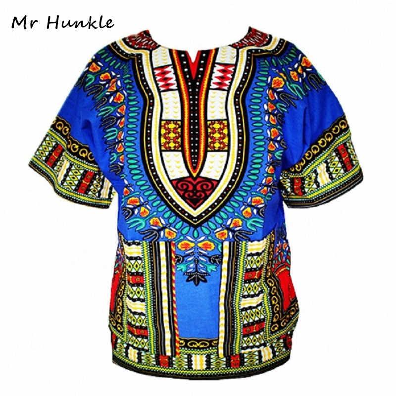 Дашики Новая африканская одежда традиционная Печать Топы модный дизайн в африканском стиле Bazin Riche одежда футболка в африканском стиле для мужчин и женщин