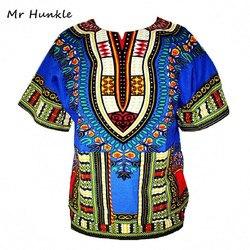 Dashiki Africano Novo Tradicional Roupa Topos de Impressão Design de Moda Africano Bazin Riche Roupas Dashiki T-shirt Para Mulheres Dos Homens