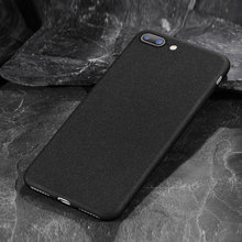 Mobile Phone Shell Silky Feel for Iphone 6s 7 Plus Simple Anti-knock TPU Rock Sand Soft Shell Silicone General Protective Sleeve