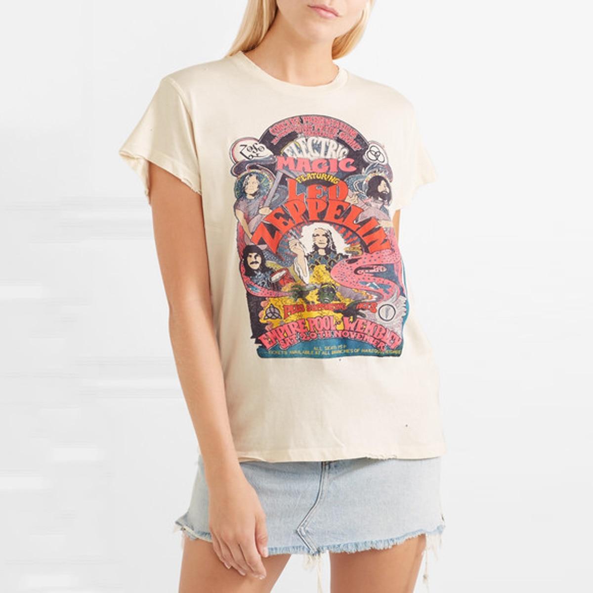 Jastie Magic Cartoon Print T Shirt Short Sleeve Top 2019 New Summer Shirt Tee Round Neck Women Pullover Tops Female T-shirts