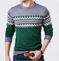 Свитер мужчин свитер бренд поло мужчин свитер hombre одежда шерсть зима платье толстая рубашка/человек весна свободные полосы вязать
