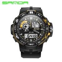 Brand SANDA Watch Men Led Digital Sport Military Watches Alarm Chronograph Luxury Men S Quartz Relogio