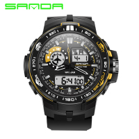 Brand SANDA Watch Men Led Digital Sport Military Watches Alarm Chronograph Luxury Men S Quartz Relogio