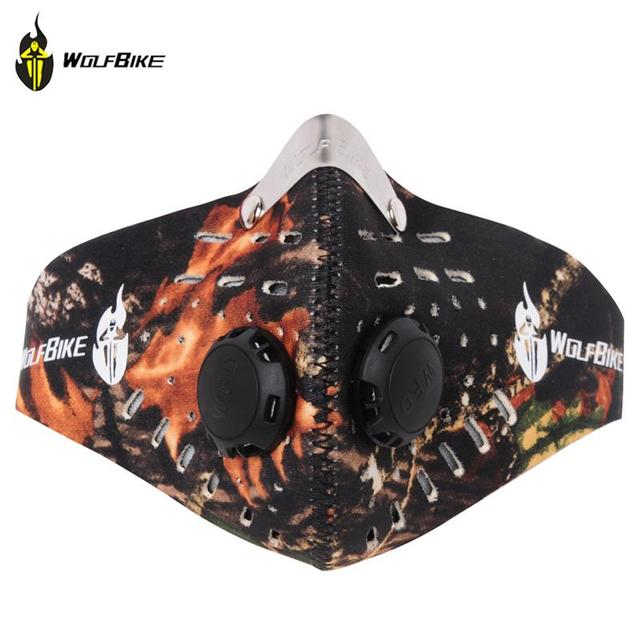 WOSAWE Anti-pollution Bike Bicycle Motorcycle Cycling Face Mask Sports Mouth-muffle Dustproof with Filter Cycling Equipment