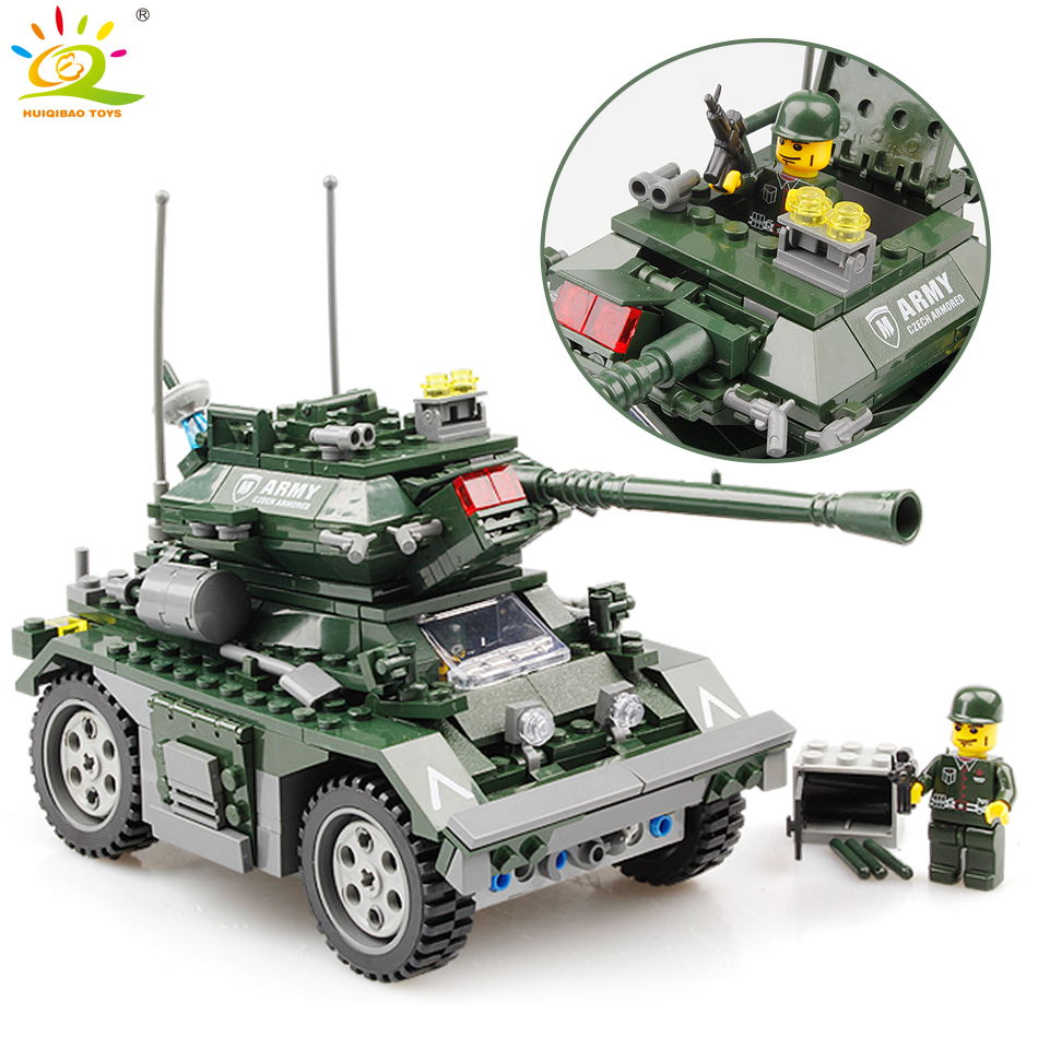 351pcs Military Czech Armored tank building block Compatible Legoed army soldier weapon enlighten bricks children toys for boy enlighten 1406 8 in 1 combat zones military army cars aircraft carrier weapon building blocks toys for children