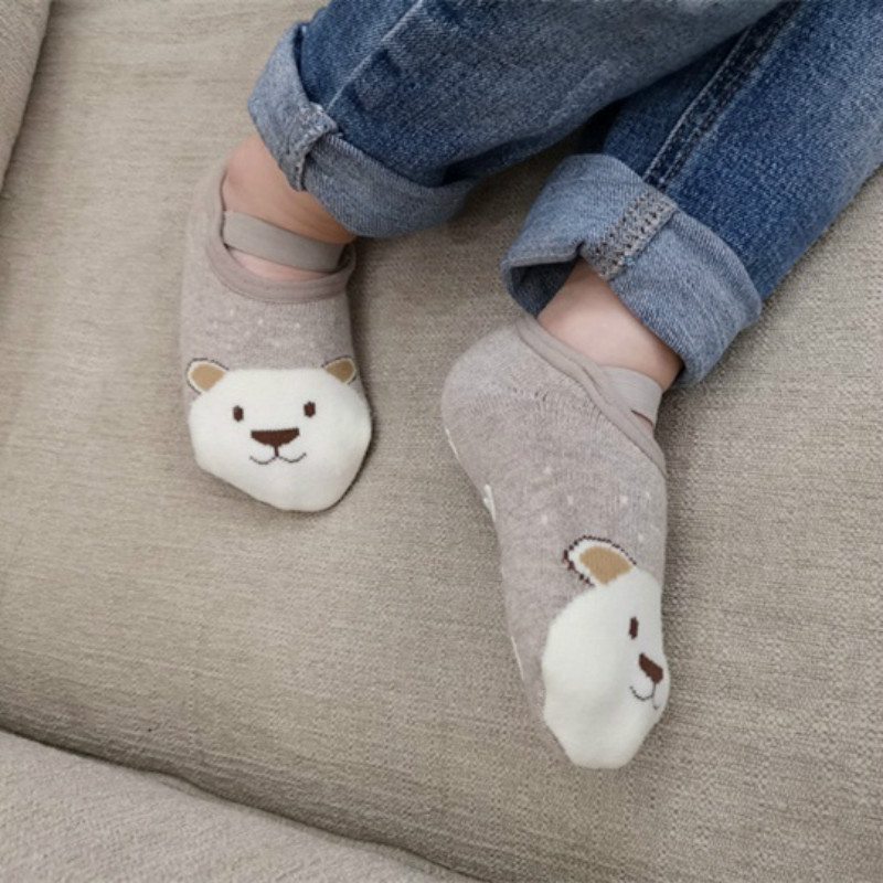 1 Pair Fashion Baby Girls Boys Cute Cartoon Non-slip Cotton Toddler Floor Socks Animal pattern First Walker Shoes for Newborns 3