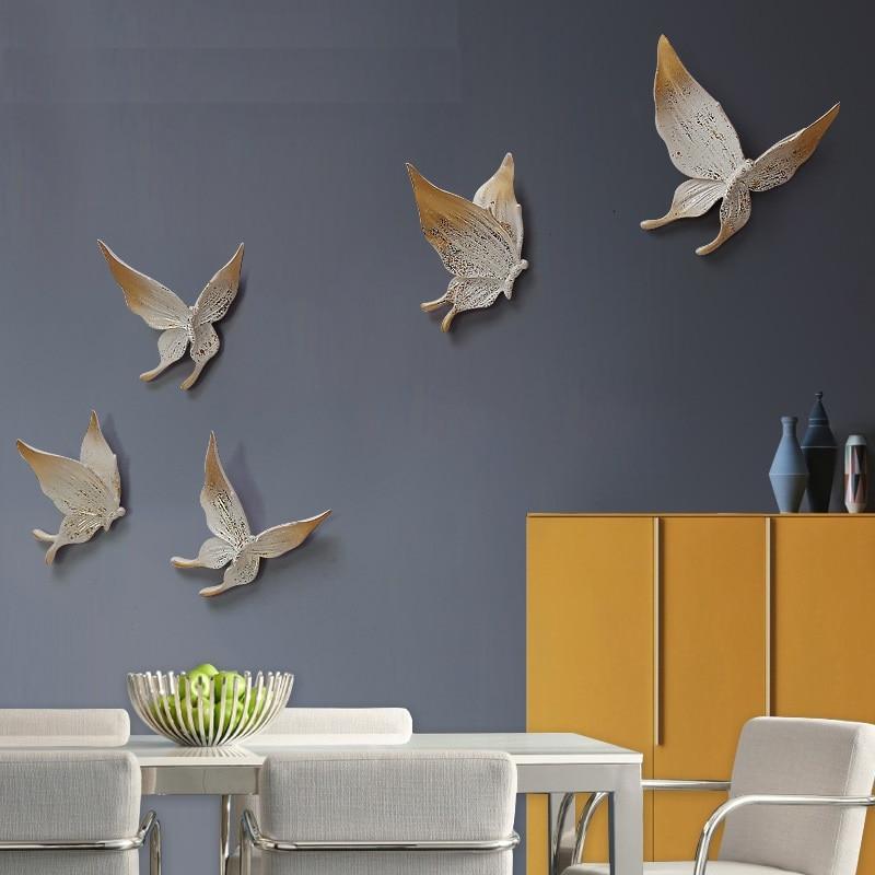 DIY 5 STKS Muur Stereo Muons Slaapkamer Muurstickers Sofa Achtergrond - Huisdecoratie