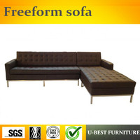 U BEST Роскошные современная мебель секционные кожаная обивка угловой диван, l образный Nordic софа