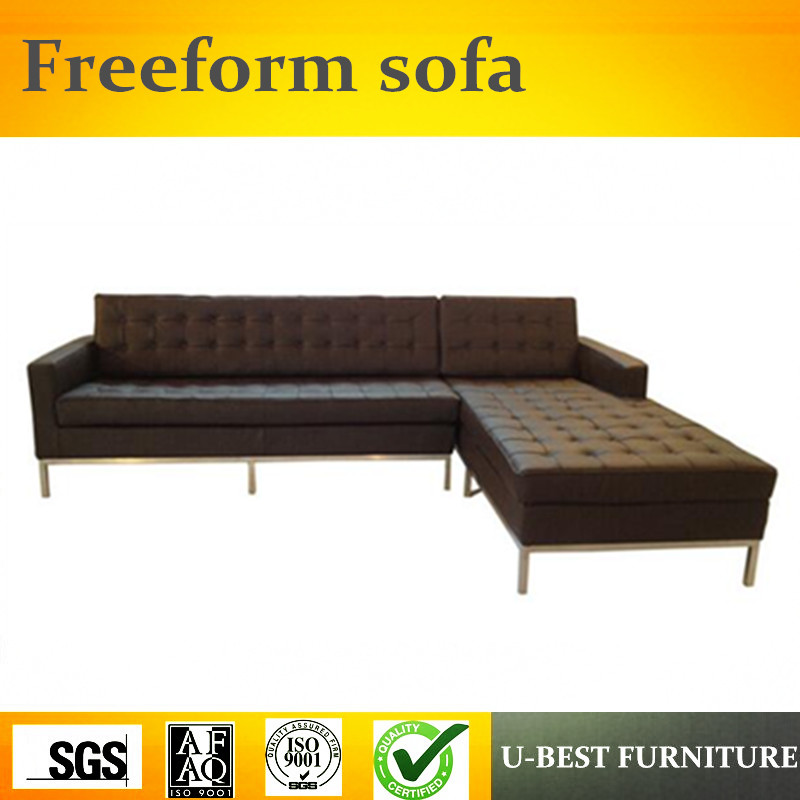 U-BEST Luxury modern furniture sectional upholstery leather corner sofa,L shape nordic fabric sofa