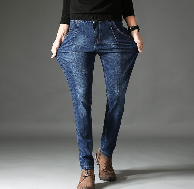 2018  Stretch Cotton Denim Jeans For Men Good Quality Males Pants