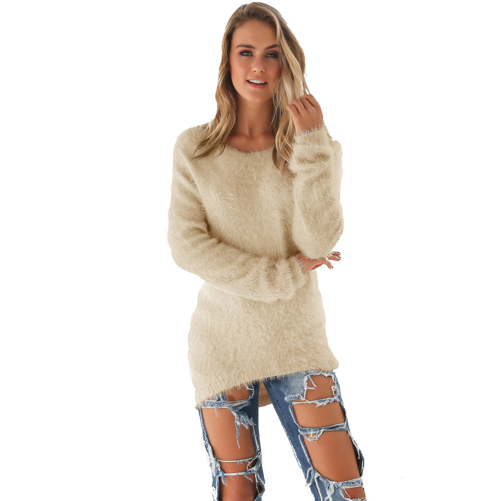 2020 Autumn Winter Women Loose Knitted Sweater Oversized Long Sleeves O-Neck Tops Women Outwear Pullovers#G4