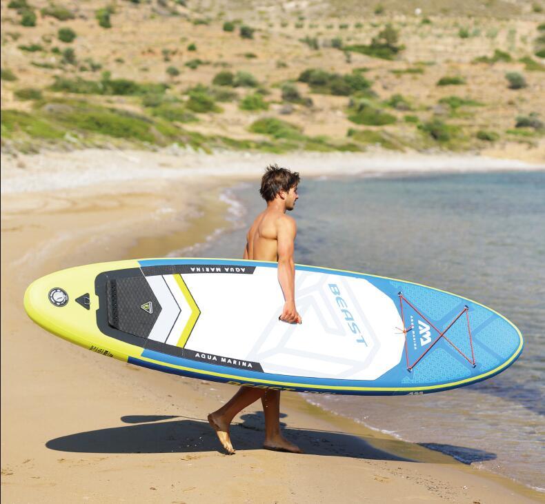 AQUA MARINA 2019 an BeastStand Up Paddle Board planche de surf gonflable y compris rame, pompe, sac de transport, Patch de réparation