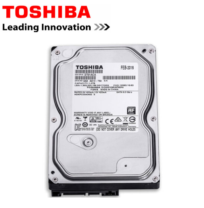 TOSHIBA 1TB HDD Hard Drive Disk 1T Internal HD 7200RPM 32M 3.5Inch SATA 3 for Desktop Internal Hard Drives High Speed Drevo internal hdd drive for a6194a a6194 69002 73g 10k fc well tested working