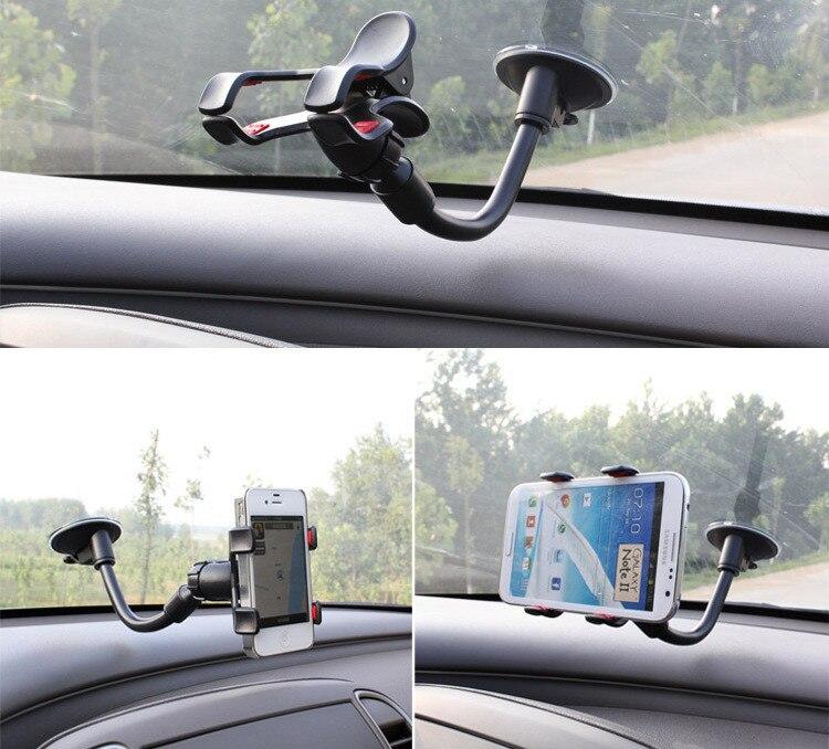 Ny 360 roterande Universal Car Windshield Dual Suction - Reservdelar och tillbehör för mobiltelefoner - Foto 1