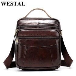 Westal bolsa de ombro masculina bolsa de couro para homens mensageiro sacos aleta zíper designer masculino sólida crossbody bolsas navio da gota