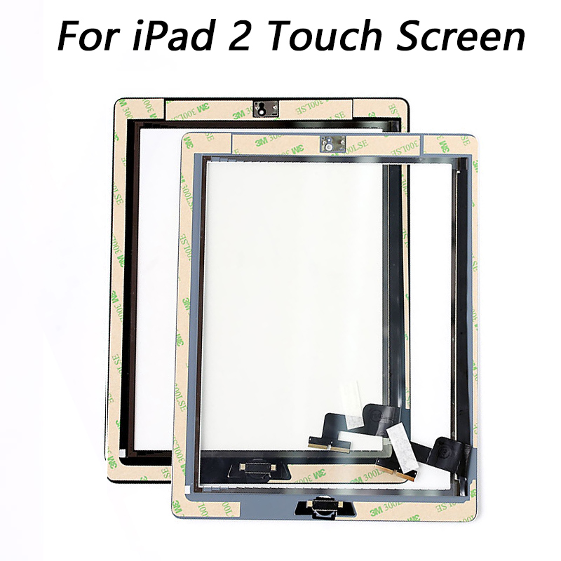 купить For iPad 2 A1395 A1396 A1397 Touch Screen Replacement Assembly Digitizer Parts with Home Button &Camera Holder Adhesive по цене 917.97 рублей