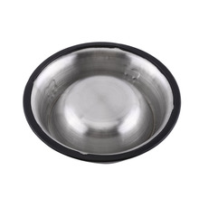 Pet Food Bowl Stainless Steel Pet Bowl Anti Slip Dog Cat Puppy Food Holder Water Feeder Feeding Dish