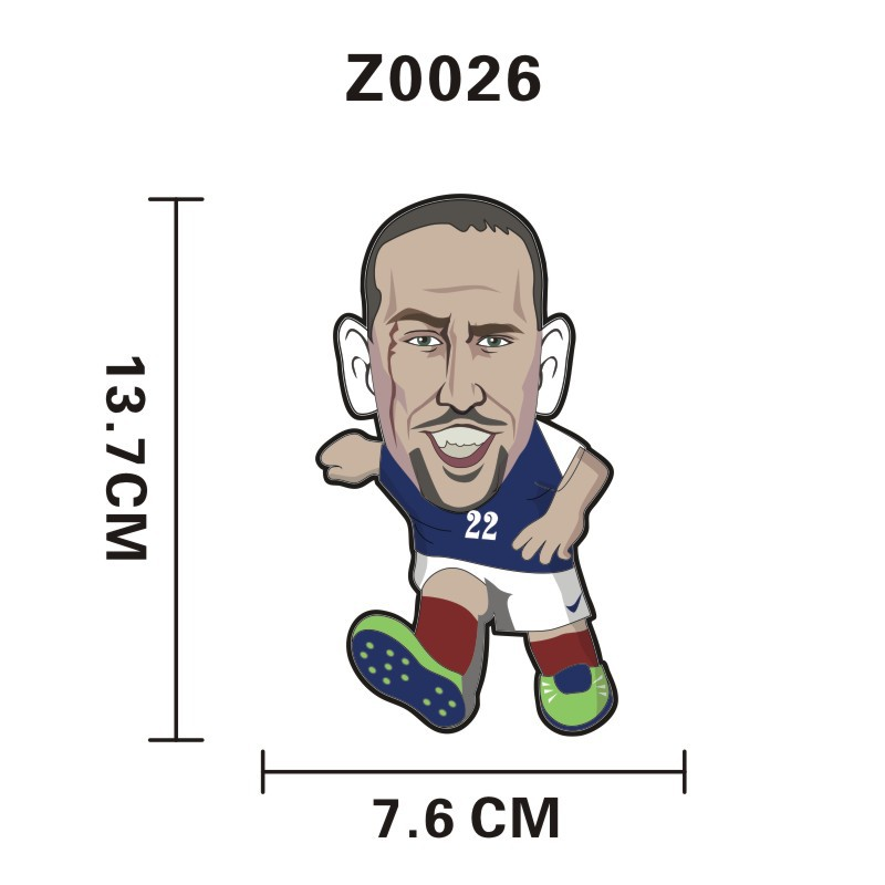 Z0026 World Cup Star Lineup Reflective Car Sticker Car Motorcycle Trolley Suitcase Laptop Sticker