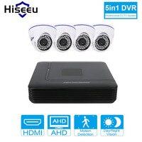 Hiseeu DVR System CCTV Camera AHD 720P Kit 4CH CCTV DVR HVR NVR 3 In 1