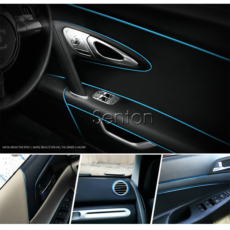5M Car-Styling Interior Stickers Decoration Strip For Jaguar XE XF XJ <font><b>Honda</b></font> <font><b>Accord</b></font> Fit CRV HRV Civic 2006-2011 <font><b>2016</b></font> <font><b>Accessories</b></font> image