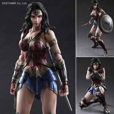 NEW hot 28cm Super hero Justice league Wonder Woman Batman v Superman action figure toys collection Christmas gift невидимка для волос funny bunny розовые цветы 2 шт