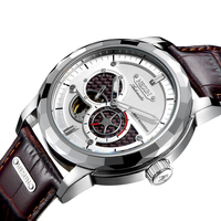 Швейцария Элитный бренд nesun скелет турбийоном Для мужчин Авто self ветер Мужские часы 100 м Водонепроницаемый Спорт часы N9810 4