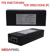 POE Injector LAS60 57CN RJ45 for Hik ip speed dome Camera 10/100/1000Mbps Date Speed POE Power Adapter RJ45 Metal