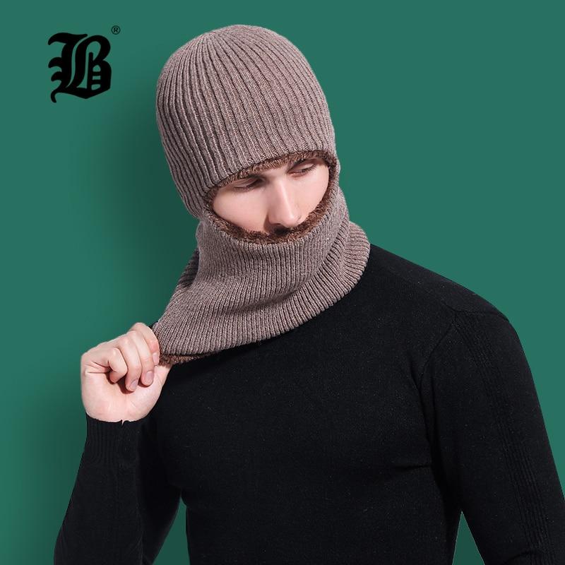 [FLB] Winter Hat Skullies Beanies Hat Winter Beanies For Men Women Wool Scarf Cap Balaclava Mask Gorras Bonnet Knitted HatF18043