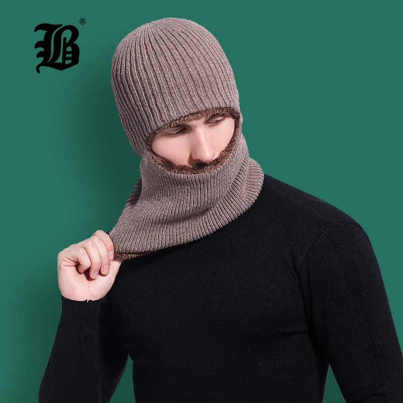 [FLB] Winter Hat   Skullies     Beanies   Hat Winter   Beanies   For Men Women Wool Scarf Cap Balaclava Mask Gorras Bonnet Knitted HatF18043