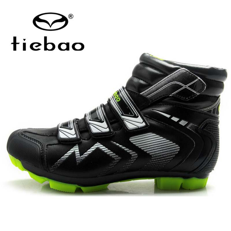 Tiebao Professional MTB Mountain Bike Cycling <font><b>Shoes</b></font> SPD Cleated Windproof Athletic Self-Locking Bicycle Ankle Boots EUR 40-47