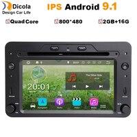 Android 9.1 Quad Core 2GB Car DVD GPS Navigation Player Car Stereo for Alfa Romeo Spider 2006 Radio headunit Bluetooth WIFI