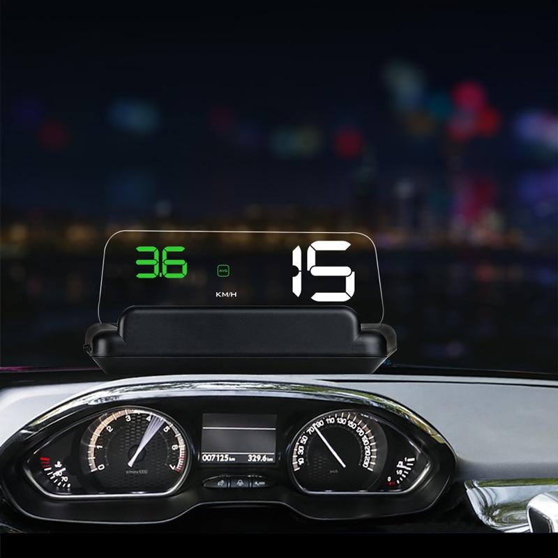 цена на BigBigRoad Car Windscreen Projector On-Board Computer HUD Head Up Display For Lexus 450H LX470 LX570 RX350 RX300 IS250 EX ES350
