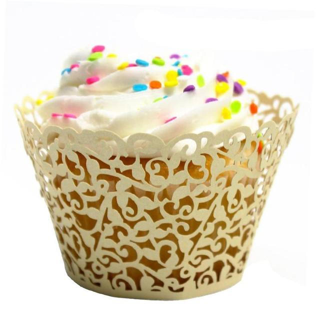 50Pcs Paper Cake Cup Liners Baking Cup Muffin Kitchen Cupcake Cases ...
