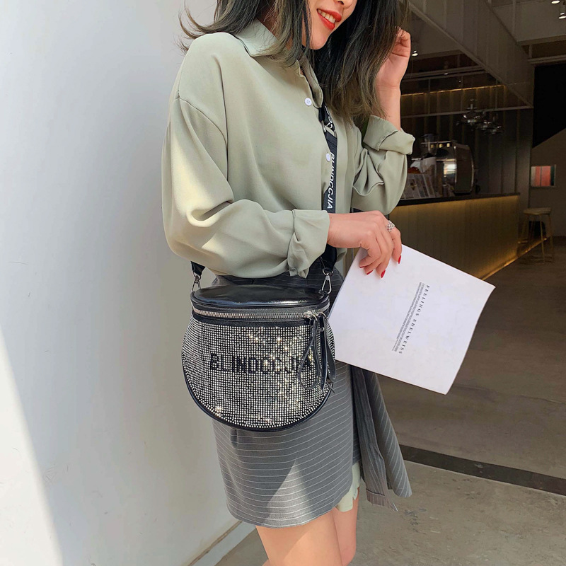 2019 Women Messenger Fashion Luxury Bags For Designer Crossbody Shoulder Ladies Hand Beach Leather Tote Diamonds Bag in Shoulder Bags from Luggage Bags