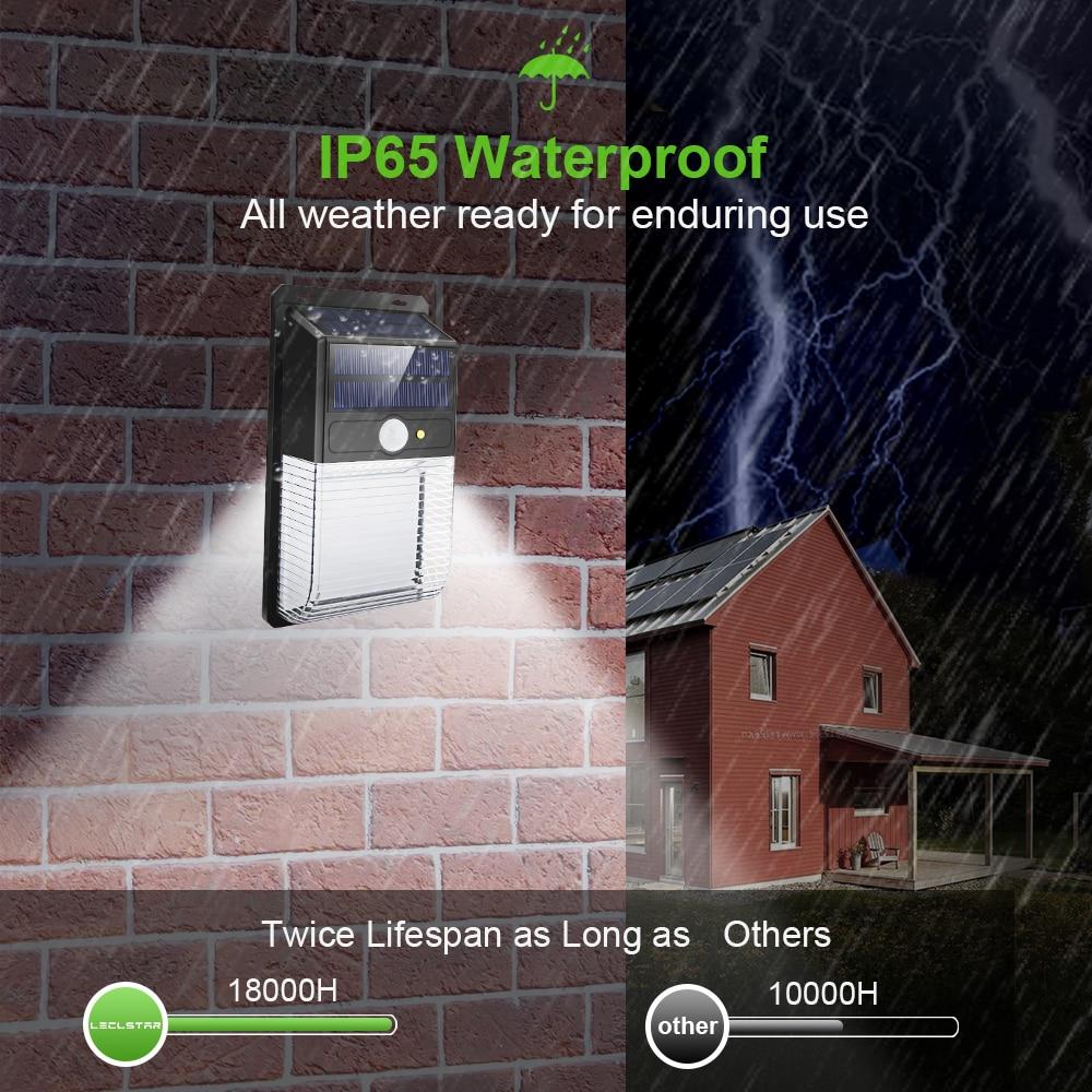 LED Sensor Night Lights with Motion Sensor Wireless Wall Lamp Outdoor Waterproof Solar Garden Streets Light Road Auto Night Lamp (3)