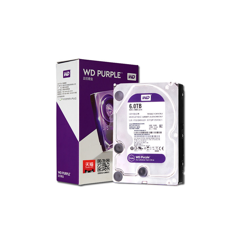WD Purple 6TB Surveillance HDD Hard Disk Drive SATA 6.0Gb/s 3.5