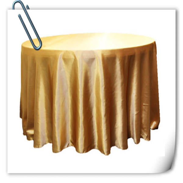 Hot Sale !!! Gold 90inch 10pcs Satin table cloth for weddings parties hotels restaurant Free Shipping Marious