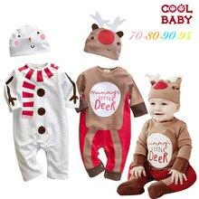 Рождество оленей от имени осень Снеговик другие с длинными рукавами С Капюшоном Ребенка Ползунки ребенок одежды