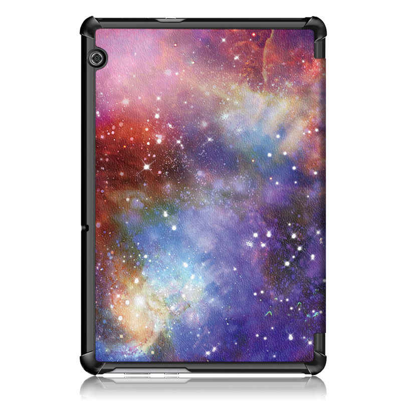 "Magnetic Case For Huawei MediaPad T5 AGS2-W09/L09/L03/W19 10.1"" Cover Funda Tablet Print PU Leather Stand Shell +Stylus+film"