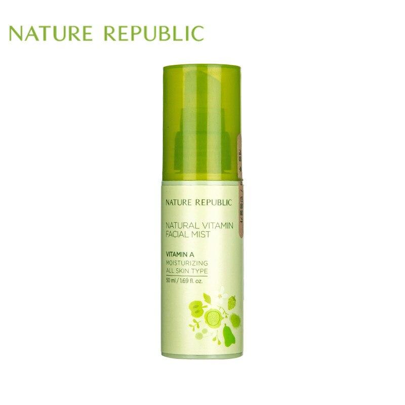 Nature Republic Korean Skin Care 50ml Natural Vitamin A Facial Mist Moisturizing All Skin Type Face Toner Facial Spray