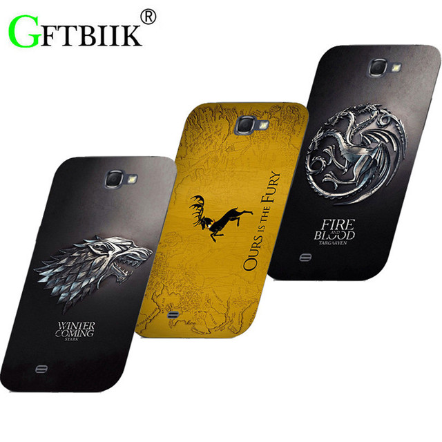 super popular 4dadf 9383d US $2.93 23% OFF|Cute Cartoon Case For Samsung Galaxy Note 1 N7000 i9220  Note1 Hard Plastic Case Fashion Printed Football Cover Game of Thrones 7-in  ...